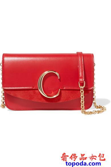Chloe带链条的C包