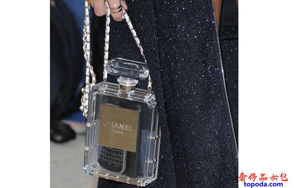 香奈儿有机玻璃香水瓶袋