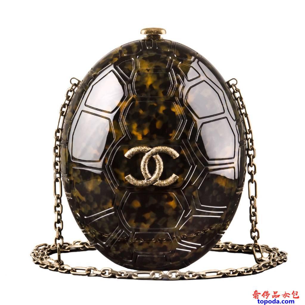 香奈儿有机玻璃乌龟壳Minaudiere包