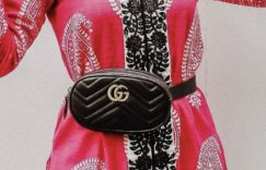 古驰(Gucci)GG Marmontmatelasse皮革腰包