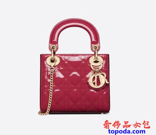 迪奥Lady Dior漆皮包