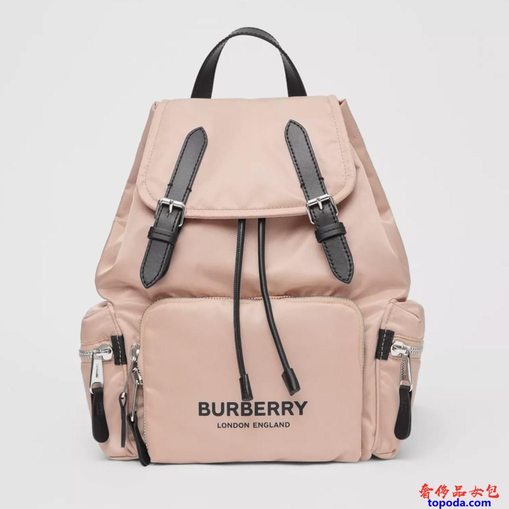 Burberry中号徽标帆布背包