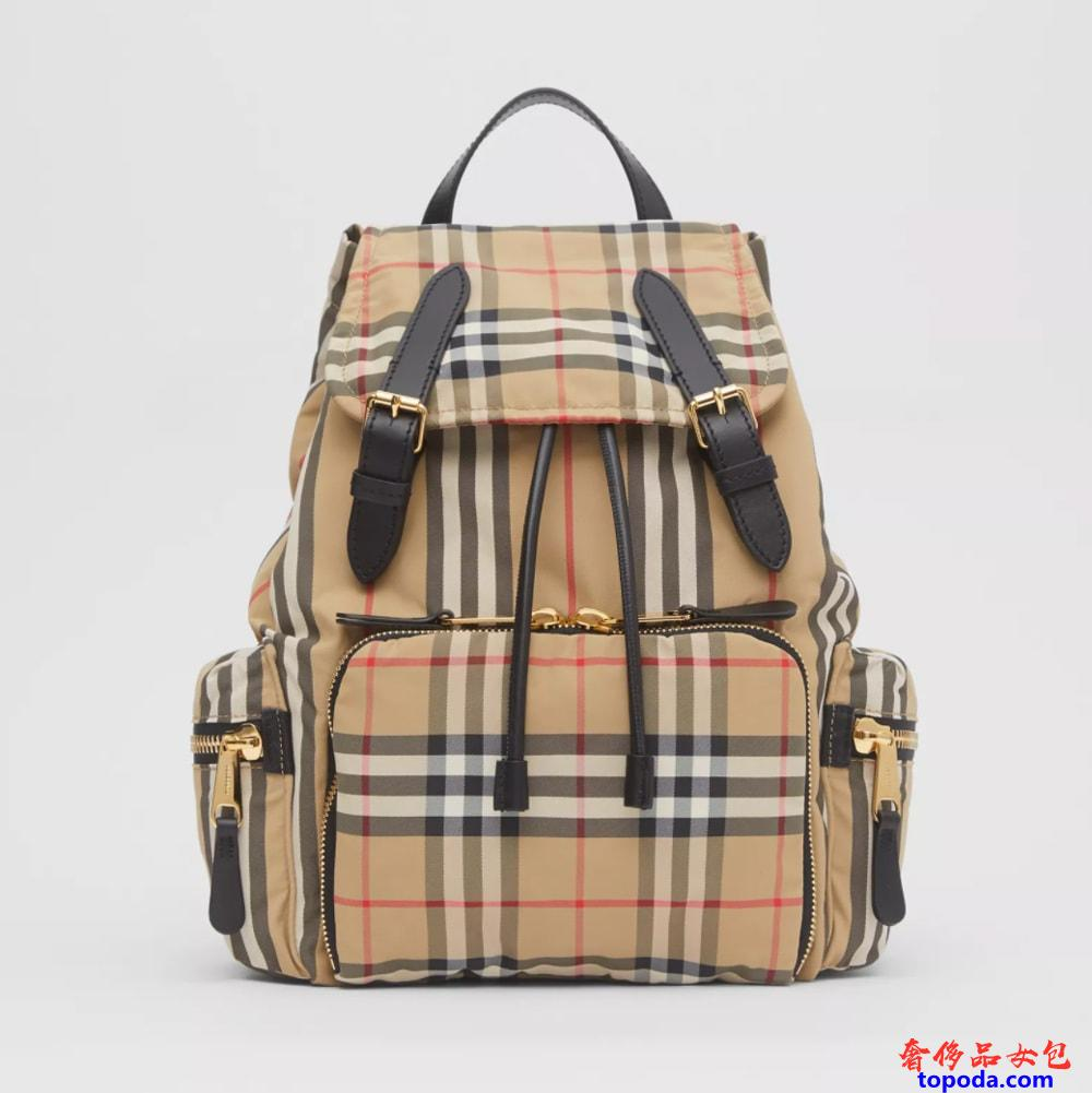 Burberry Vintage Check CheckECONYL®中号帆布背包