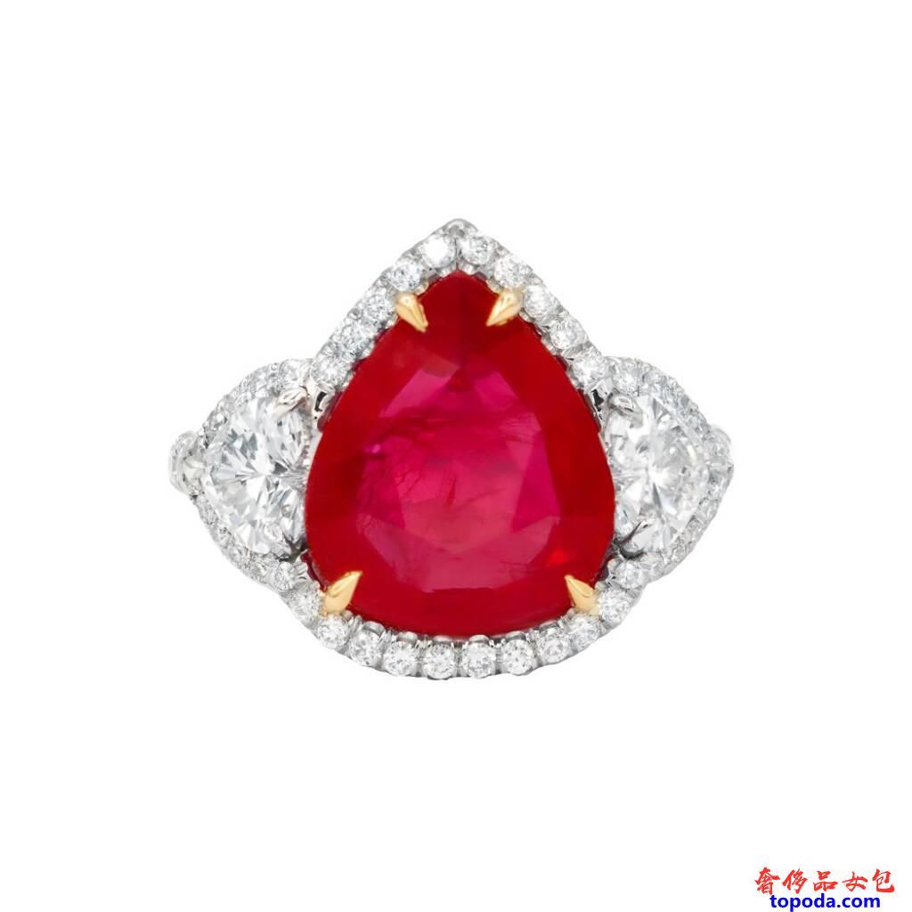 红宝石和钻石戒指