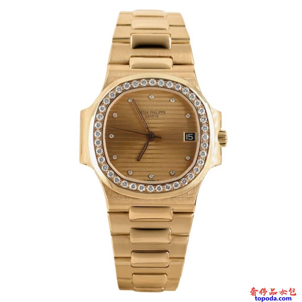 百达翡丽鹦鹉螺黄金手表
