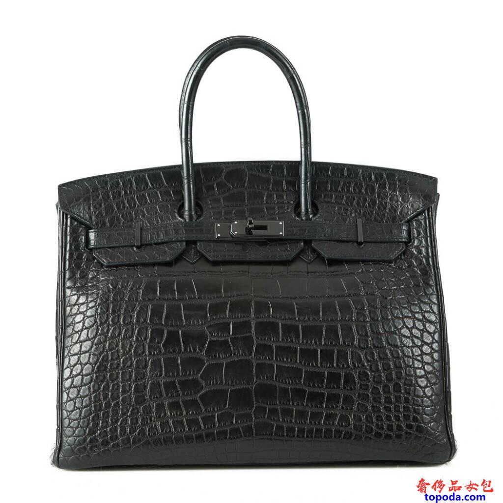 爱马仕So Black Birkin 35包