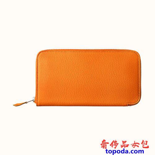 橙色Chevre Azap经典钱包