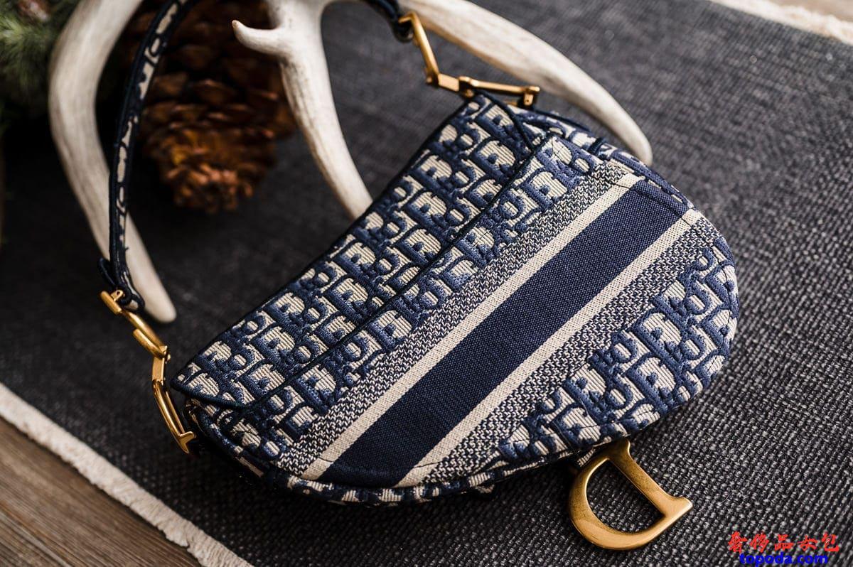 Dior斜纹刺绣帆布包
