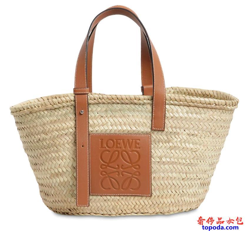 罗意威Loewe编织草篮子包