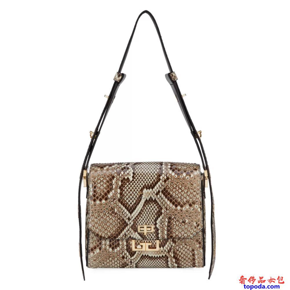 纪梵希(Givenchy)中号伊甸园Python斜挎包