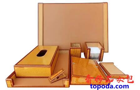 爱马仕9件式木质书桌套装